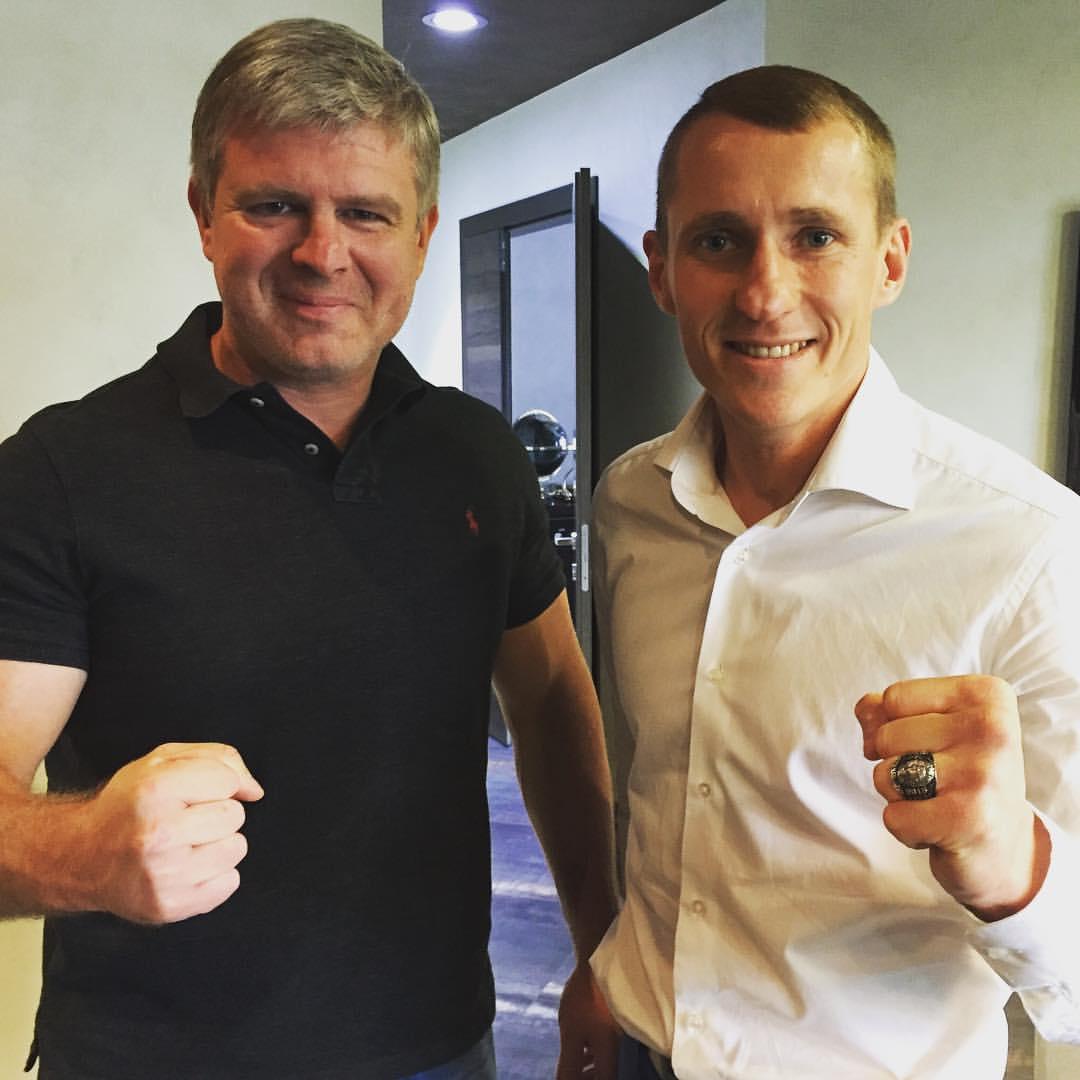 Трояновский получил чемпионский перстень