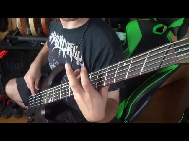 Cannibal Corpse - Skewered from ear to eye on bass guitar