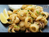 Five Spice Calamari with Wasabi Mayo -