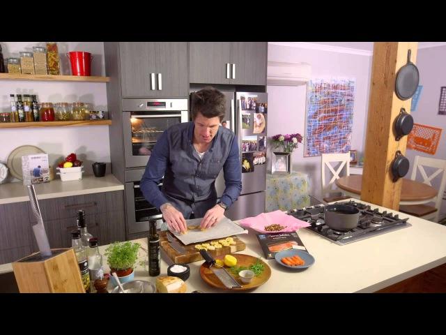 Huon Reserve Selection Smoked Salmon Banquet Rolls and creme fraiche crostini - Ben's Menu
