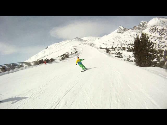 Tatry in motion. Jasna, Tatranska Lomnica 2017 snowboarding