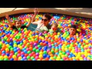 GIANT BALL PIT Swimming Pool Challenge Funny Jumps Kids Games Ballpit Fight by DisneyCarToys