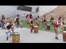 Dundun dance flash mob Melbourne Djembe