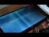 Монитор Philips 243V5L. Белый / серый экран. Искажение изображения