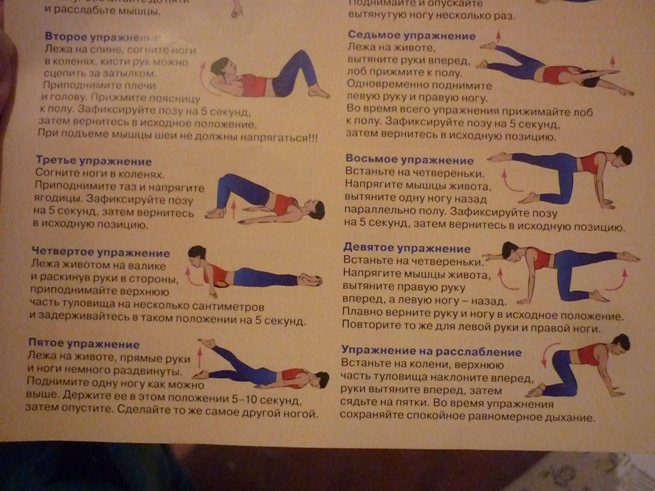 Упражнения для укрепления мышц верхней части спины