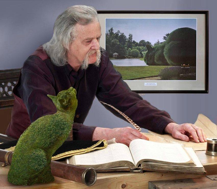 Топиари коты  на картинах британского художника сюрреалиста  Ричарда Сондерса