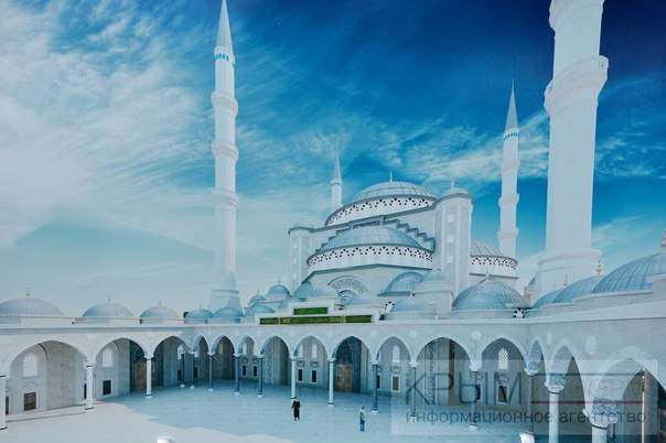 Строительно-монтажные работы по возведению Соборной мечети Крыма начались сегодня в Симферополе.