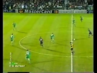 ЛЧ 2001-02 | 1-4 финала | Первый матч | Панатинаикос - Барселона 1-0 | 2 часть
