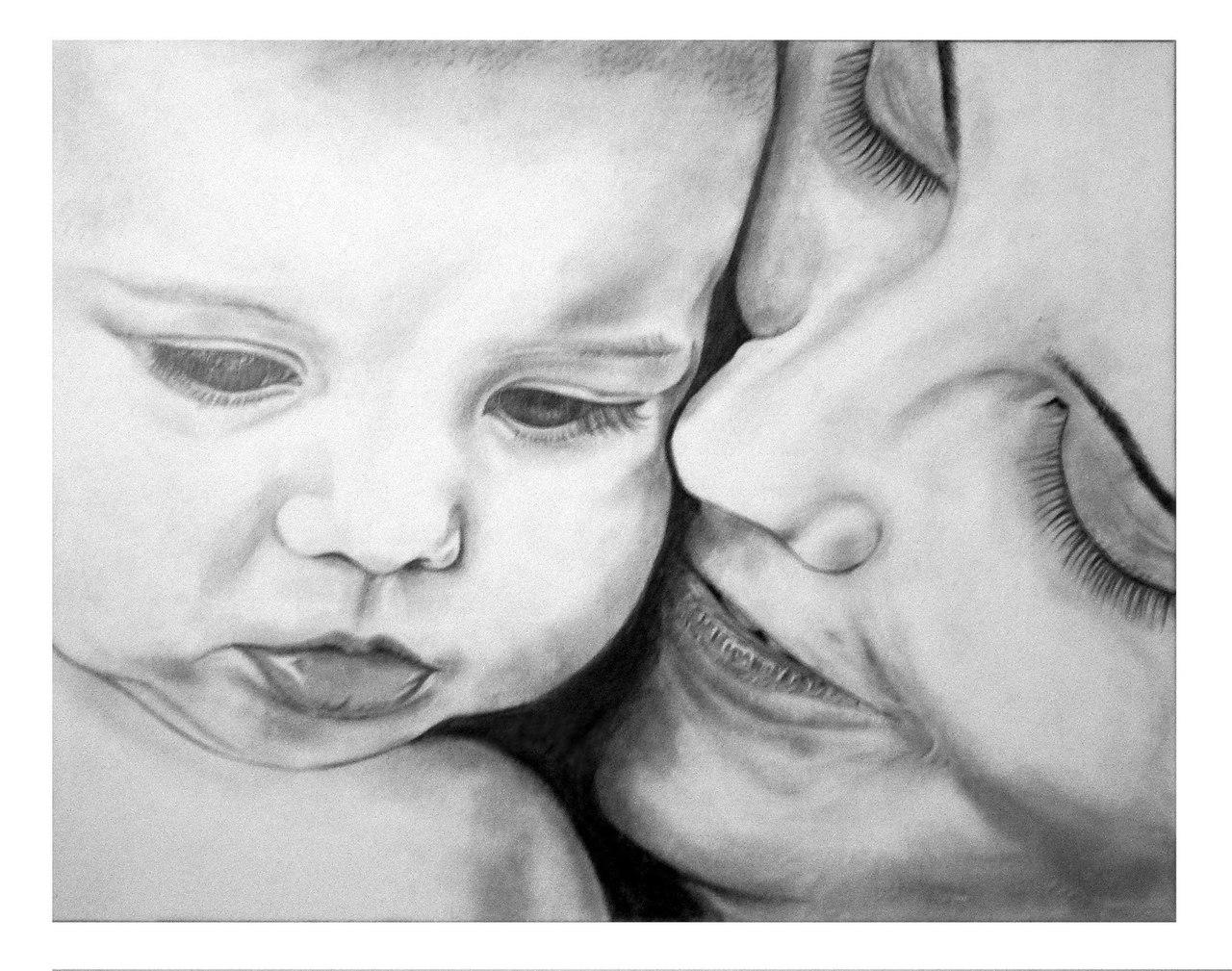 Картинки мать и ребенок нарисованные, надписью саша
