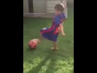 Manchester City headhunt 3 year old Jaxon Lal headhunted after his skills in the back garden