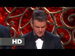 Matt Damon gets Played Off Stage -  Oscars 2017