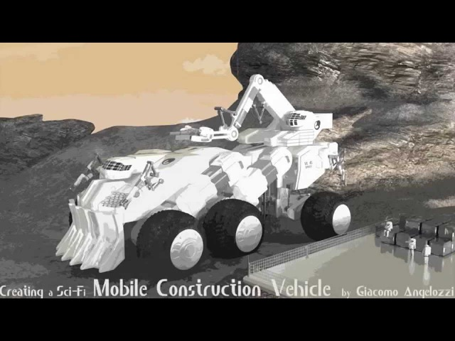 Creating a Sci-fi Construction Vehicle in Blender