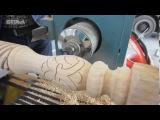 Outomatiese hout CNC draai maal en draaibank sny en gravure masjien