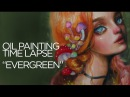 OIL PAINTING TIME LAPSE red haired forest nymph Evergreen