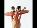 гребцы, деревянные игрушки ГНЕЗДО