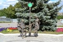02 августа 2015 -  Памятник влюблённым у Дворца бракосочетания Автозаводского района Тольятти