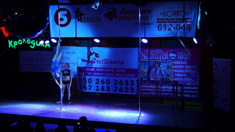 Участница категории Дети 10-14 - Мария Семизарова, pole-studio Brilliants, г. Полтава