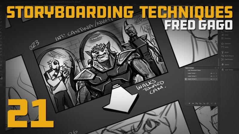 Fred Gago «Storyboarding techniques» (Часть 21/21)