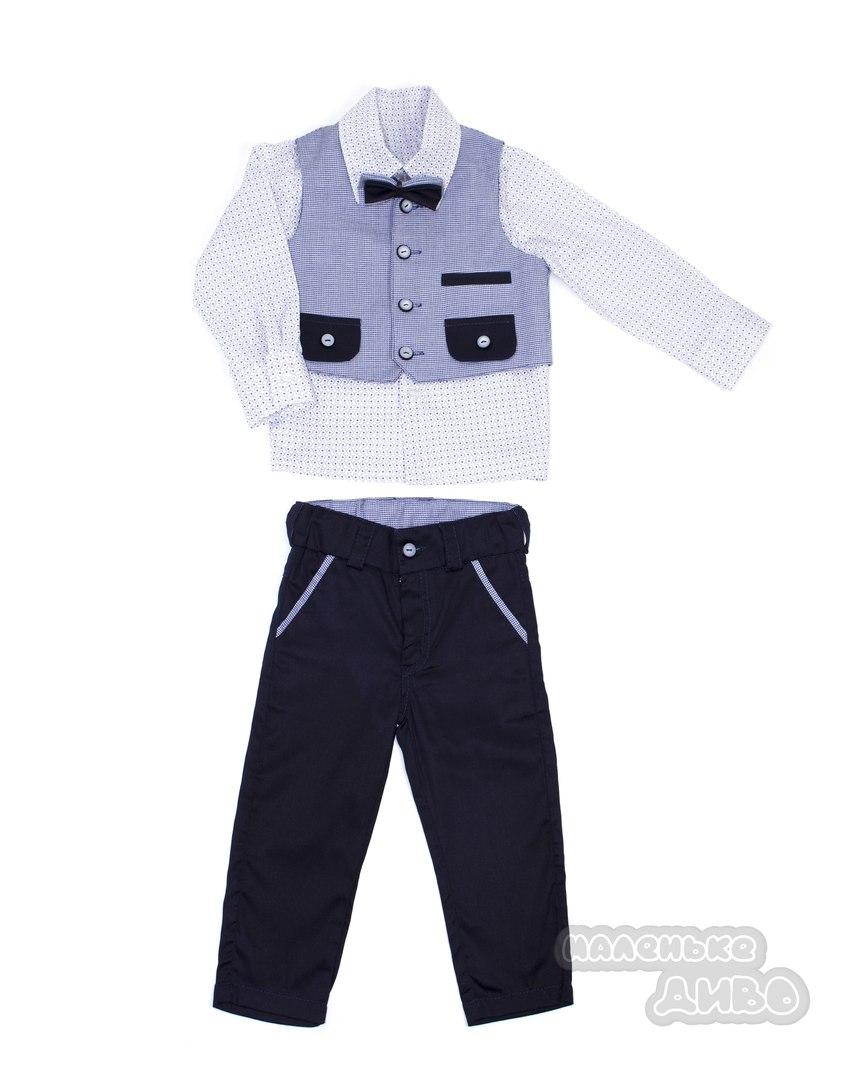 Комплект для хлопчика: сорочка, жилет, штани, метелик