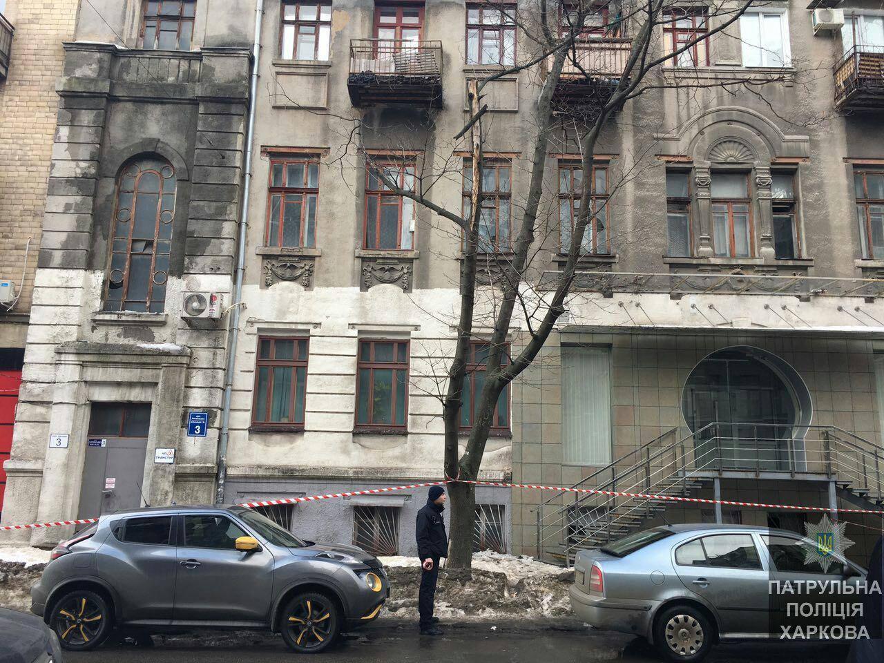 Вцентре Харькова надевушку упала снежная глыба