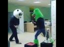 Бой на катанах. Панда vs Дино