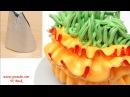 Насадки для крема своими руками Насадка РЮШИ Украшение тортов кремом Часть 3