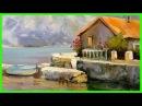 Урок живописи с нуля. Как нарисовать Дом у воды. Александр Южаков