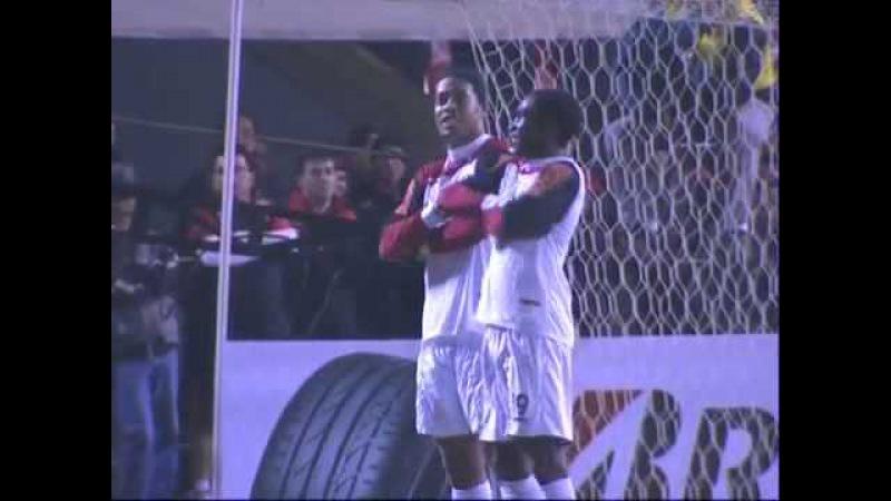 Atletico PR 0 x 1 Flamengo pela Copa Sul Americana 2011 24/08/11 (Ronaldinho Gaucho Dançando )