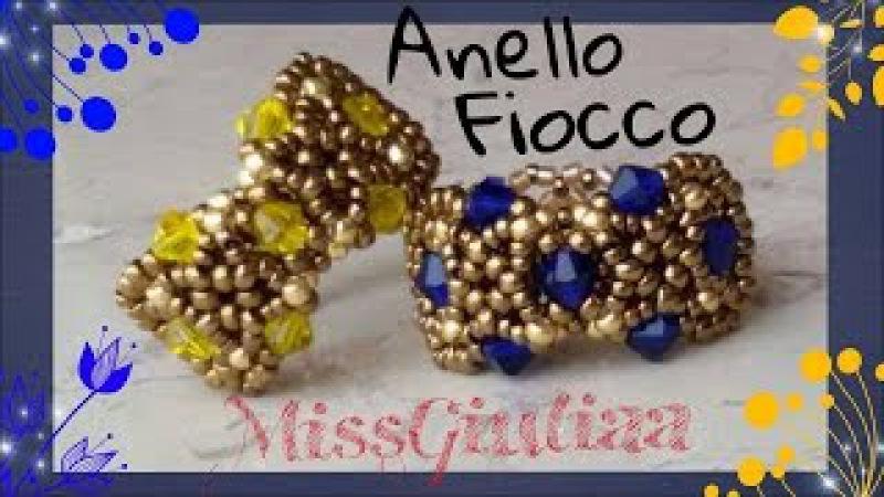DIY : Tutorial Anello Fiocco 🎀| MissGiuliaa | come fare un anello con le perline e bicono