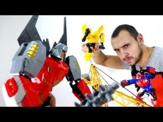 Видео для детей: Трансформеры. Автоботы vs Десептиконы. Роботы трансформеры. Игры Битва.