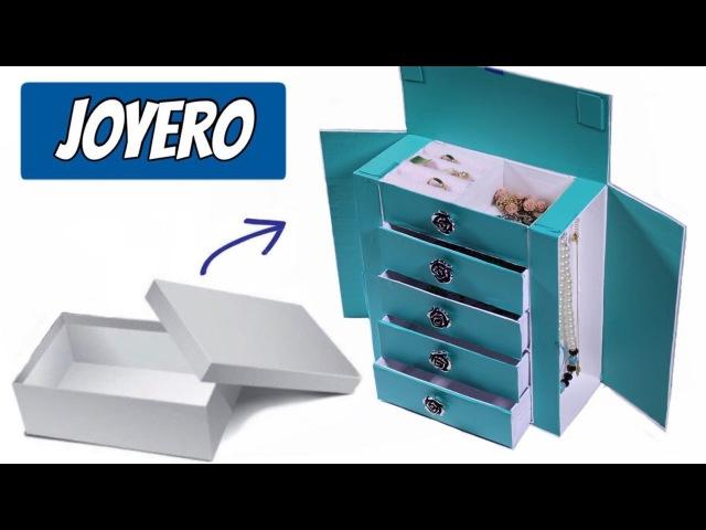 Joyero Hecho con Caja de Zapatoorganizador de cartón