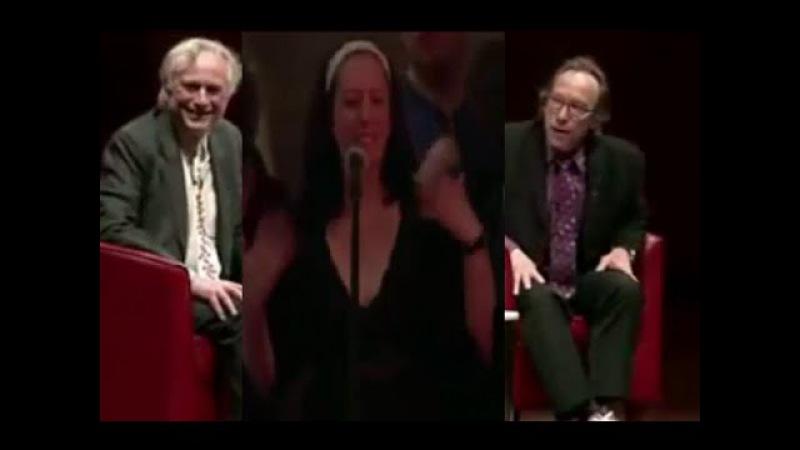 Confused girl questioning Richard Dawkins religion