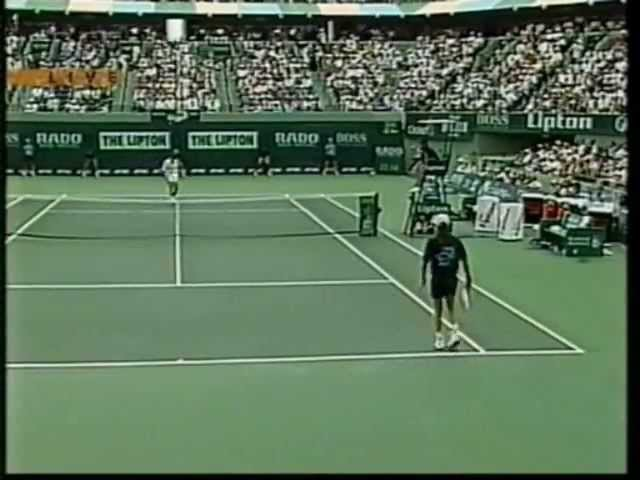 Pete Sampras great shots selection against Andre Agassi Key Biscayne 1994 FINAL