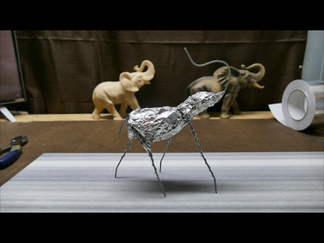 Sculpting an Elephant part 2 Reinforcing Armature Foil
