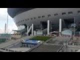 Строительные работы в зоне доступа стадиона на Крестовском острове. Май 2016