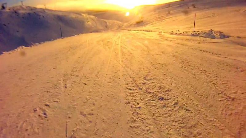Runn ski black track 14