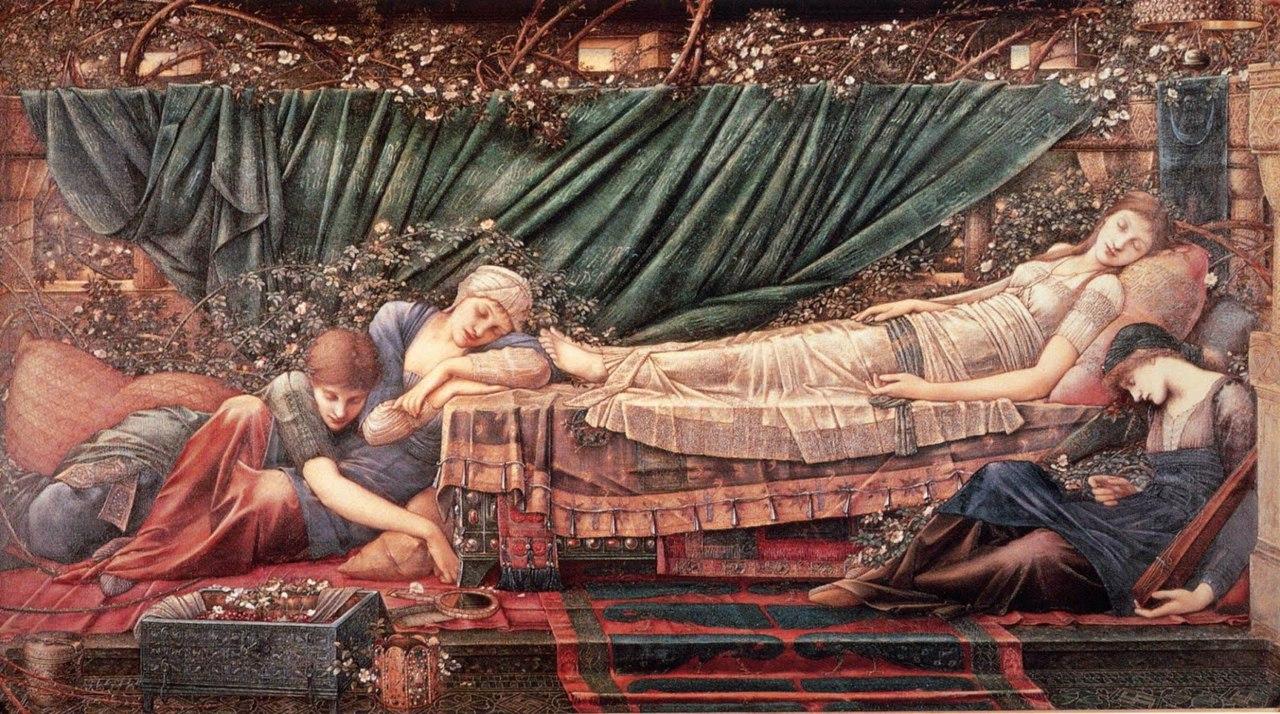 Едвард Берн-Джонс. Шипшина. Спляча принцеса (1870-1890 роки).