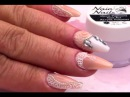 Vintage Bridal Nail Art Design Tutorial - Simple Lace effect 3D Acylic