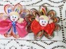 Цветы из атласной ленты в стиле канзаши Заколка для ребенка своими руками