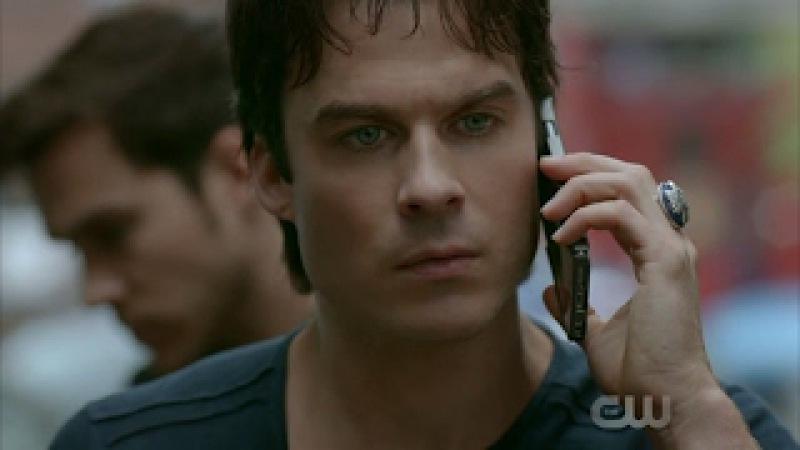 The Vampire Diaries: 8x13 - Damon calls Bonnie and talks about Kai [HD]