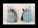 #25 decoupage lesson shabby chic with paper napkins DIY painting stripes lace tutorial