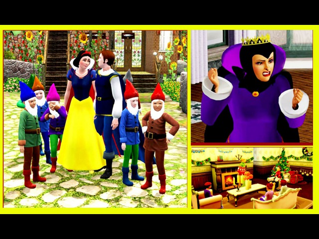 THE SIMS 3 DISNEY`S SNOW WHITE and the SEVEN DWARFS Fairy Tale(Voice over)