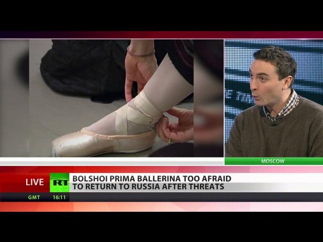 Bolshoi's prima ballerina flees Russia after threatening letters
