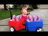 Crying Babies Baby Born doll and Diana Play fun / Feeding Bad Babies Video for kids
