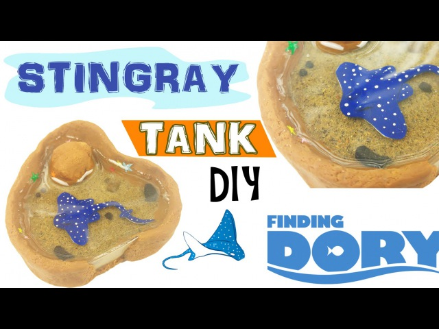 MINI STINGRAY TANK FINDING DORY Polymer Clay Resin Tutorial