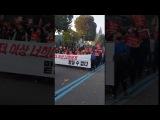 서울 광장으로 행진하는 대학생들