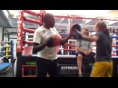Roger Mayweather training Mikayla Nebel @ Mayweather Boxing Club 1/3