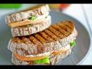 Сендвичи с персиками и рикоттой на гриле