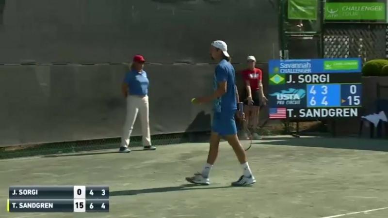 Теннис Сандгрен | лучший удар турнира | Savannah Challenger