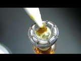 Dab Of a Grape Ape Shatter Slathered In Clear Concentrate! C2 Custom Creations Daisy Domeless Nail